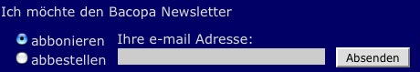 mail an versand @ bacopa.at
